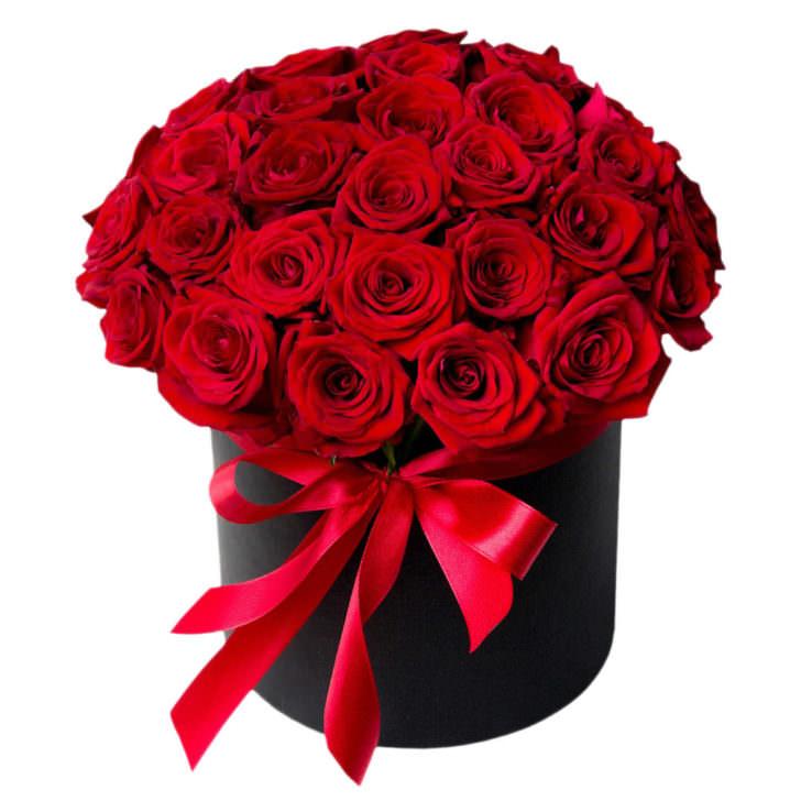 """Цветы в коробке """"Красные розы"""""""