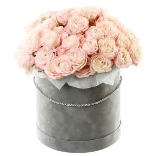 Цветы в коробке «Черное золото»
