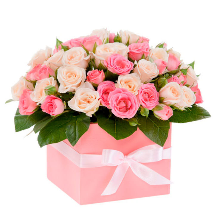 """Цветы в коробке """"Для любимой"""""""