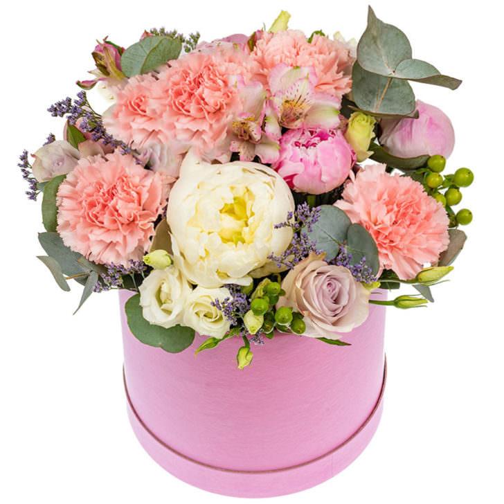 """Цветы в коробке """"Влюбленность"""""""